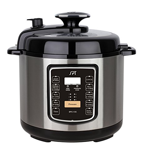 SPT EPC-13C 6.5-Quart Stainless Steel Electric Pressure Cooker with Quick Release Button