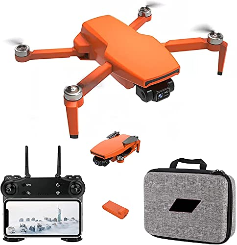 J-Clock 2021 Nuovo Drone GPS con Fotocamera 4K per Adulti, Quadricottero RC WiFi 5G a 2 Assi con Video in Diretta FPV GPS Ritorno a casa Motore brushless Seguimi Tempo Volo 25 Minuti