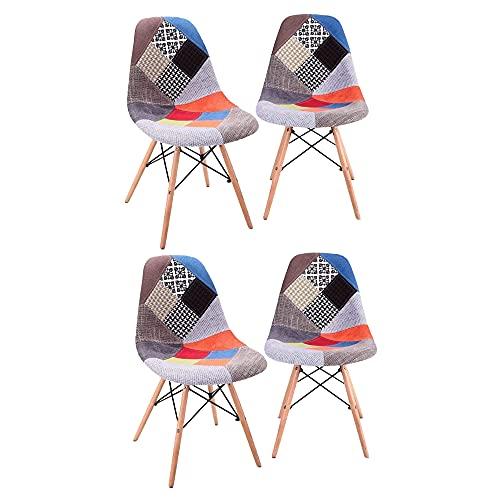 4er Set Esszimmerstühle Esszimmerstuhl, Dining Bürostuhl, Küchenstuhl Polsterstuhl Stuhl mit Rückenlehne, Ergonomischem Design, Rot