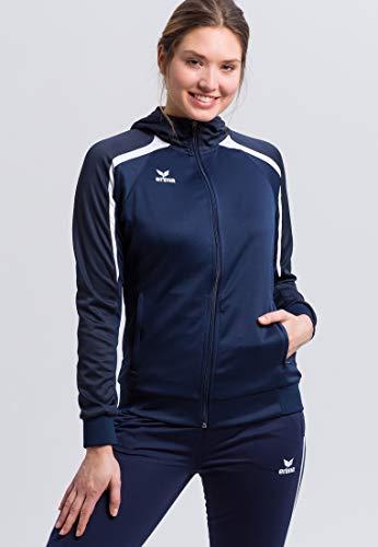 ERIMA Damen Jacke Liga 2.0 Trainingsjacke mit Kapuze, new navy/dark navy/weiß, 36, 1071859