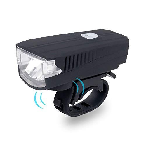 Fahrradklingel, Fahrradklingel, Nachtfahrten, Mountainbike-Lichter mit Hupen-Scheinwerfern, USB-Ladegerät, lauter Melodi-Sound, Mountainbike-Klingel