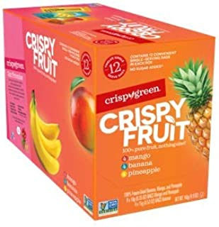 Crispy Green Freeze-Dried Fruit, Single-Serve, Tropical Variety Pack (Pack of 12)