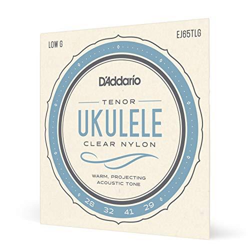 D'Addario EJ65TLG Pro-Arté Custom Extruded Nylon Ukulele Strings, Tenor Low-G