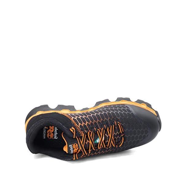 Timberland PRO Men's, Powertrain Sport Alloy Toe SD+ Work Shoe Black Orange 12 W