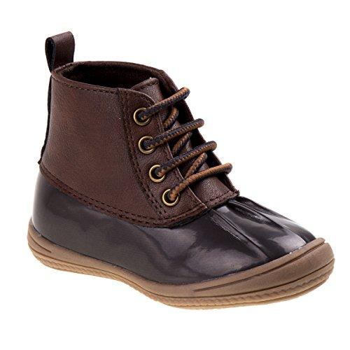 Josmo Baby Luke Fashion Boot, Brown Patent/Brown, 6 Medium US Toddler