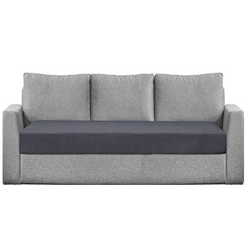 Granbest Sitzkissenbezug, wasserabweisend, für Sofa, Sessel, dehnbar, aus Jacquard-Stoff (3-Sitzer, grau)
