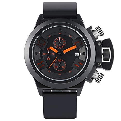 Liandd Männer Armbanduhren Pilot Style Quarzuhr Datum Tag Silikonband Chronograph Aviator Boy Geburtstagsgeschenk,