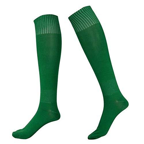 Wdonddonyjw Calcetines de Yoga Niños Calcetines de fútbol Fútbol de los Muchachos del calcetín Hombres Fútbol Fútbol Calcetines Largos Arriba sobre la Rodilla de Alta calcetín (Color : Green)