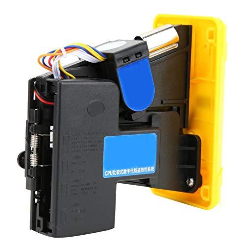 Okuyonic -15 ℃ ~ + 15 ℃, Aceptador de Monedas, Plata, Amarillo, Interferencia Anti-electromagnética, DC + 12V ± 10%, para máquinas expendedoras para máquinas de Venta de Agua(Yellow)