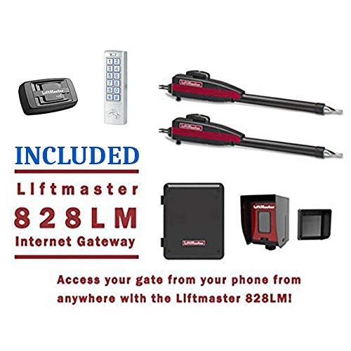 Best Deals! Liftmaster LA400PKGU Dual Swing Gate Opener Kit - Included Liftmaster 828LM Internet Gat...