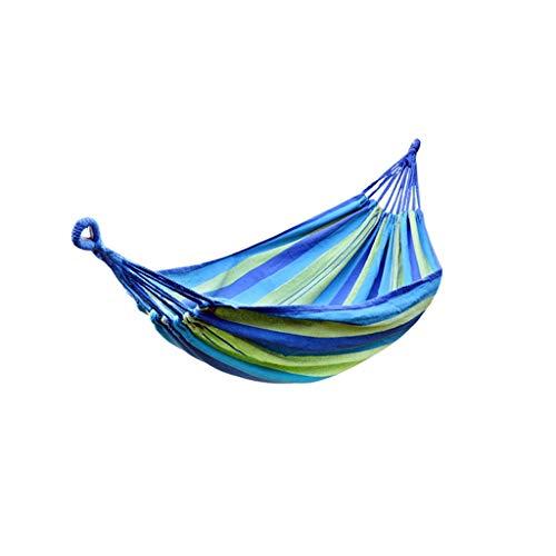 ZZL Amaca Camping Viajes Hamaca Colgando Cama DE Swing TREO TRANSCURSE HAMPOTAS para LA Playa DE Pista DE ATALLO AL AIRETRO Durable (Color : Blue)
