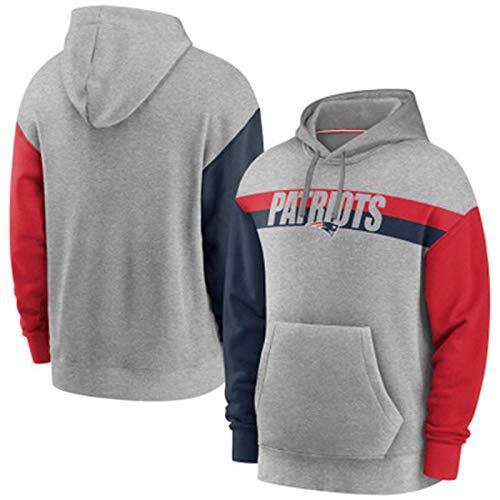 YDYL-LI Fútbol Americano Jersey Uniforme con Capucha para Hombres # Patriots Hoodie Suéter Sudadera Sudadera Personalizada Jersey para Casual, Cómodo,XXXL