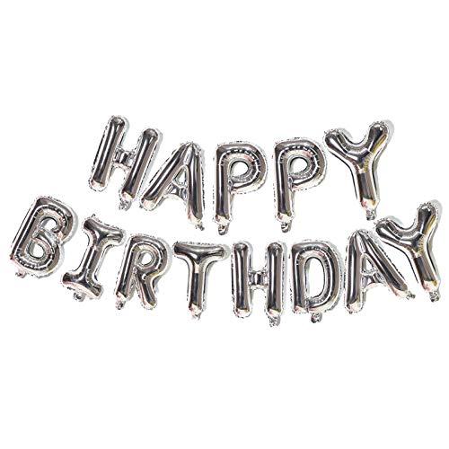 Xinqin Striscione per palloncini con scritta Happy Birthday, Foil Palloncini ,Palloncini buon compleanno,palloncini in foglio alluminio 16 pollici,per decorazioni e forniture per feste compleanno