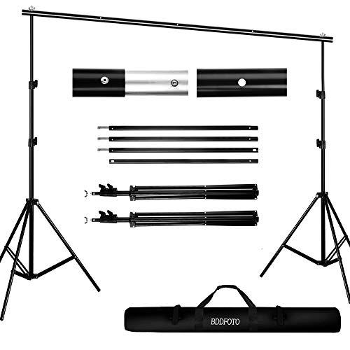 BDDFOTO Kit de Soporte de Estante de Fondo Ajustable de 2x3 Metros para Retrato, fotografía de Productos y grabación de Video, con Bolsa de Lona portátil