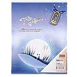 E-ABM 200 Hojas 4D Big 6-Inch Photo Insert Photo Album Scrapbook Paper Memorial Album Baby Family Scrapbook Albums Wedding Photo Album Purple