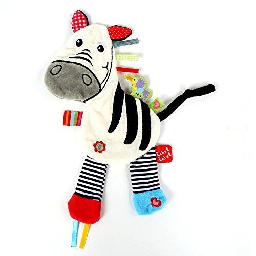 Vital Innovations LL-FR14051 Label-Label Schmusetuch Zebra, Weiß