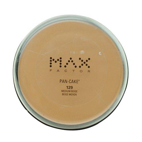 Max Factor Pan-Cake Water Activated Foundation 1.75 oz. (#129 Medium Beige)