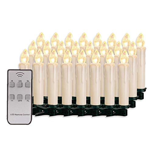 Candles Smokeless Decoration, Candles Light Decorative Candles Smokeless Decoration for Christmas Tree, Home, Decor, Indoor, Outdoor 30PCS