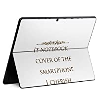 igsticker Surface Pro X 専用スキンシール サーフェス プロ エックス ノートブック ノートパソコン カバー ケース フィルム ステッカー アクセサリー 保護 011340 本 英語 白