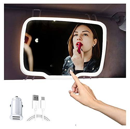 Rechargeable Car Visor Vanity Mirror