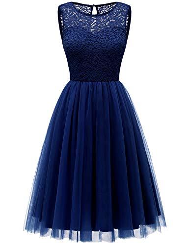 Bbonlinedress tüllrock faschingskostüme Damen tütü Cocktailkleid Tüll Kleid Brautjungfern Partykleid Abendkleid Navy XL