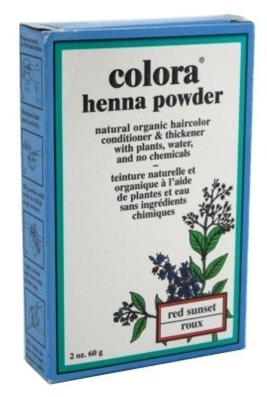 拡張刺繍時間厳守Colora Henna パウダーヘアカラーレッドサンセット2オンス