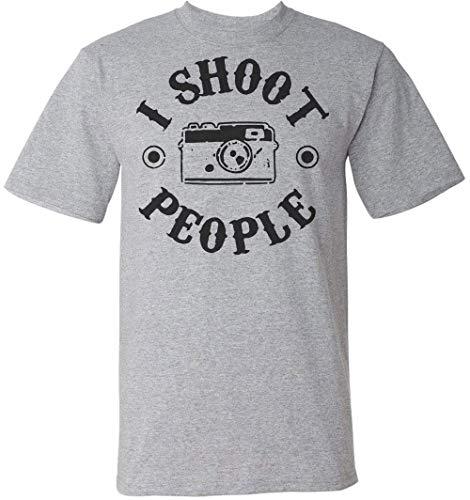 I Shoot People Circle Design Herren T-Shirt Extra Large