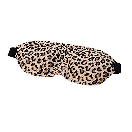 NOLOGO 3D stereoscopic goggles blackout goggles sleep eye mask is and to improve memory memory foam sleep eye mask with two Sleep Mask (Color : Leopard)