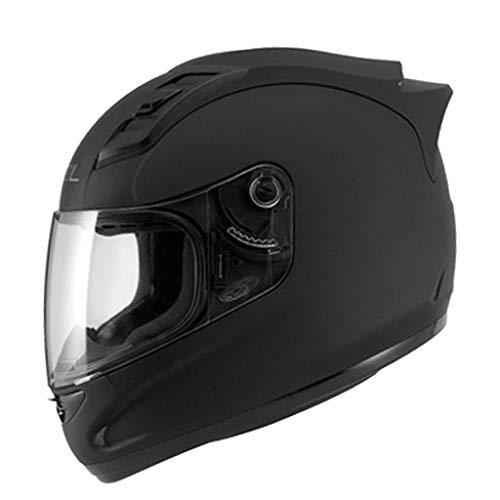 Casque moto hommes et femmes casque intégral de locomotive quatre saisons casque de course kart casque de course (Couleur : A-L57-58cm)
