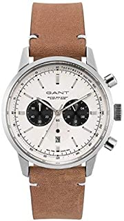 Gant Bradford Men's White Dial Leather Band Watch - G Gww064001, Analog Display, Miyota 0S20 10Z Movement