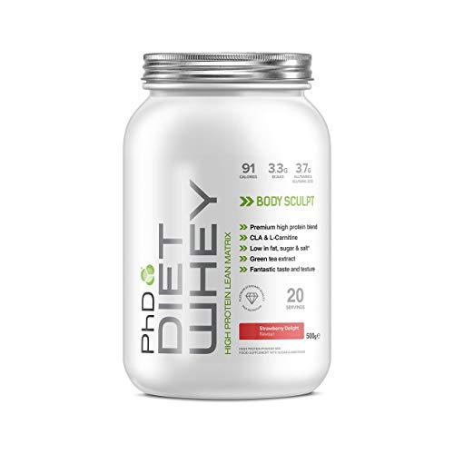 PhD Nutrition Diet Whey Protein Powder, Strawberry Delight, 500 g