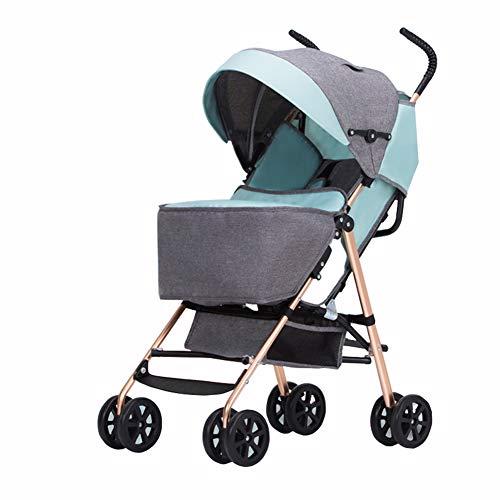 Baby trolley Parapluie surdimensionné pour bébé Portable Pliant, auvent surdimensionné, Voyage Facile, adapté aux Voitures suspendues, sièges inclinables, Grand Espace de Rangement et Pliage Compact