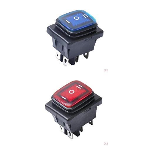 MagiDeal Interruptor de Interruptor de Botón Basculante de 6 X 6 Pines Universal