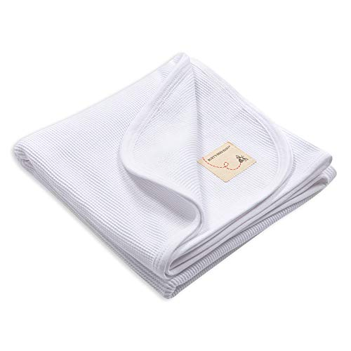 Burt's Bees Baby - Receiving Blanket, 100% Organic Cotton Swaddle, Stroller or Tummy Time Blanket (Cloud White)