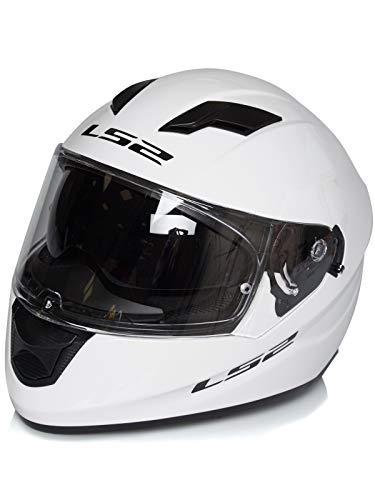LS2 Casco de moto STREAM EVO Blanco, Blanco, L