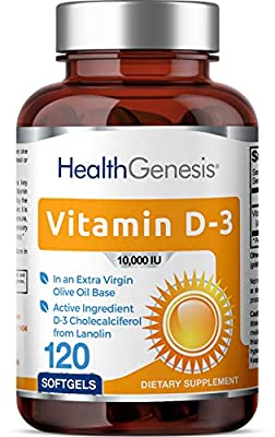 *Flash Sale* Vitamin D3 10000 IU 120 Softgels - High-Potency   Non-GMO   Soy-Free   in Extra Virgin Olive Oil   Strong Bones   Immune Health   Support for K-2