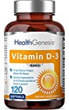 Vitamin D-3 10000 IU 120 Softgels - High-Potency in Extra Virgin Olive Oil Non-GMO Soy-Free Supports Strong Bones Immune Health and K2
