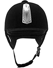 Casco ecuestre, cascos deportivos de equitación, terciopelo negro, cómodos, transpirables, 56 cm, 58 cm, 60 cm, adultos y hombres