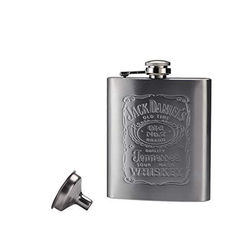 Portátil de bolsillo de cadera del acero inoxidable frasco de 7 oz taza de la botella de vino con la botella Mini Vaso de alcohol for los regalos de los hombres Bebedor Petaca (Color : 2)