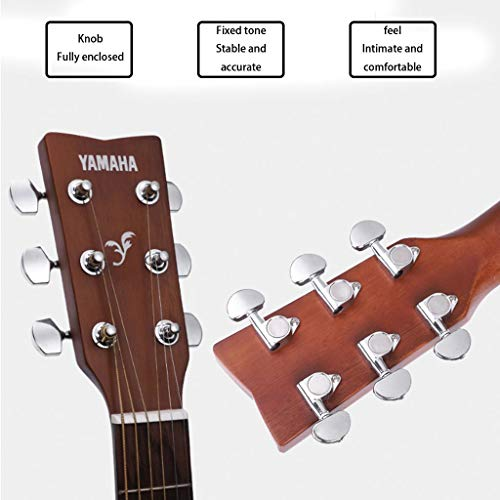Instrumentos musicales Guitarra eléctrica Yamaha Fg800 Junta Folk eléctricos Box Principiante Hombres Mujeres alumno y 41 Pulgadas Guitarras (Color : Sunset Brown, Size : 130 * 40 * 12cm)