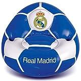Real Madrid - Silla Hinchable (65 x 85 x 80 cm), para niños (Peso máximo 30 kg), Talla única