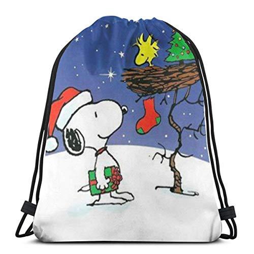 Bolso clásico con cordón de la mochila de la gimnasia de la Navidad Bolsas de hombro Deporte Bolsa de almacenamiento para hombre mujeres