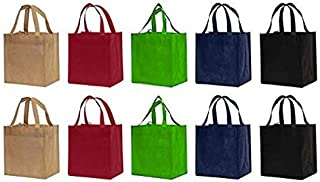 Earthwise Reusable Grocery Bags Shopping Totes Eco Friendly (10 Piece Pack)