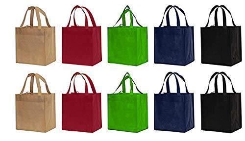 Earthwise reutilizable bolsas de compras Totes respetuoso con el medio ambiente (10piezas pack)