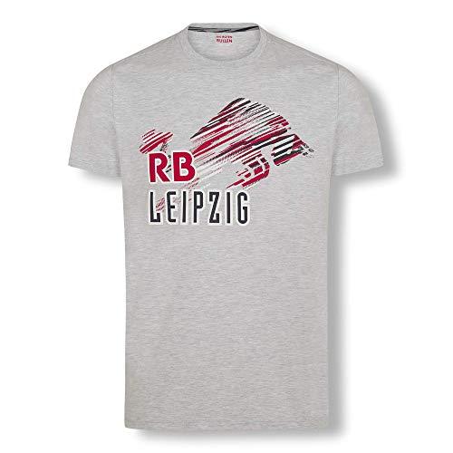 RB Leipzig Blizzard Bull T-Shirt, Gris Herren Medium T-Shirt, RasenBallsport Leipzig Sponsored by Red Bull Original Bekleidung & Merchandise