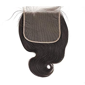 Forawme Virgin Brazilian Hair Body Wave Free Part Lace Closure 8 Inch 100 Real Remy Human Hair Swiss Lace Closure 6X6 Inch Medium Brown Lace Pieces