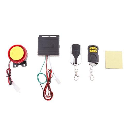 Sharplace Kit De 12V Système De Sécurité Alarme Sirène Antivol Moto Étanche avec Télécommande