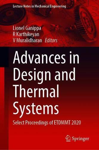 [画像:Advances in Design and Thermal Systems: Select Proceedings of ETDMMT 2020 (Lecture Notes in Mechanical Engineering)]