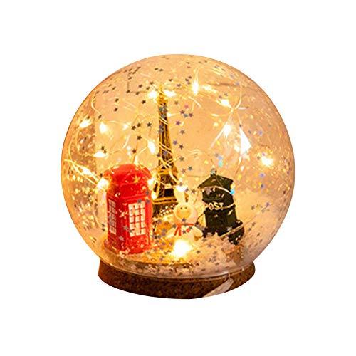 Energiebesparende glazen bol decoratie LED lamp van tafellamp nachtlampje slaapkamer