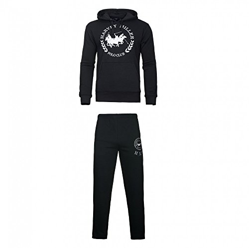 Harvey Miller Sweater mit Hose Trainingsanzug HRM4060 4054 Black W18-HMT1 Größe L